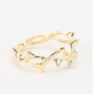 Gold Branch Ring